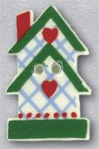 86326 - 2-Story Birdhouse With Hearts 5/8in x 1in - 1 per pkg